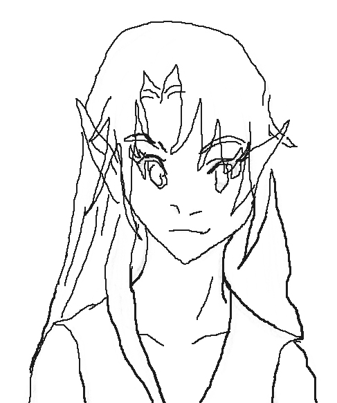 """Lilai traced based off an old picture, \""""Profile.\"""""""