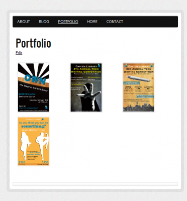 New Portfolio Page