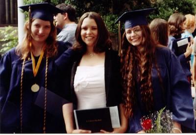 High school graduation with friends, June 4, 2004.