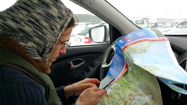 T planning our route.